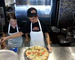 making pizza @ Tony Saccos Hartland