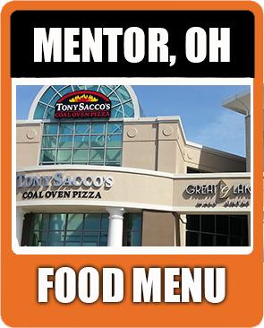 Mentor Food Menu